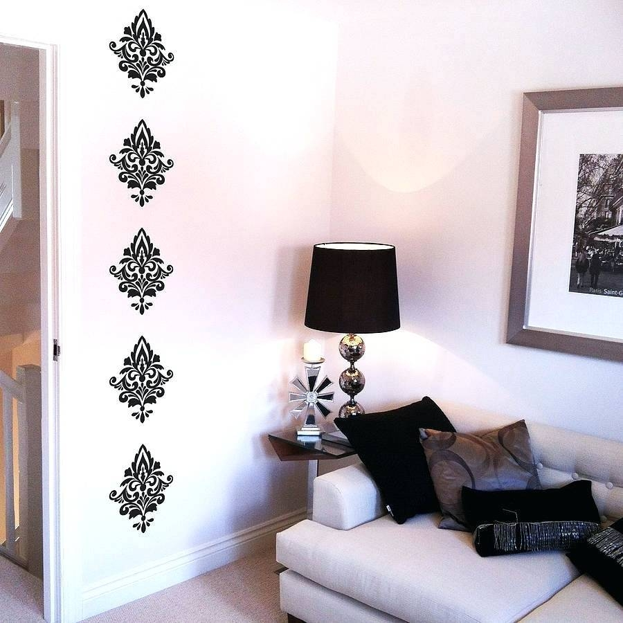 Damask Decals Wall Art Damask Wall Decals Wall Decals Damask With Current Black And White Damask Wall Art (View 15 of 30)