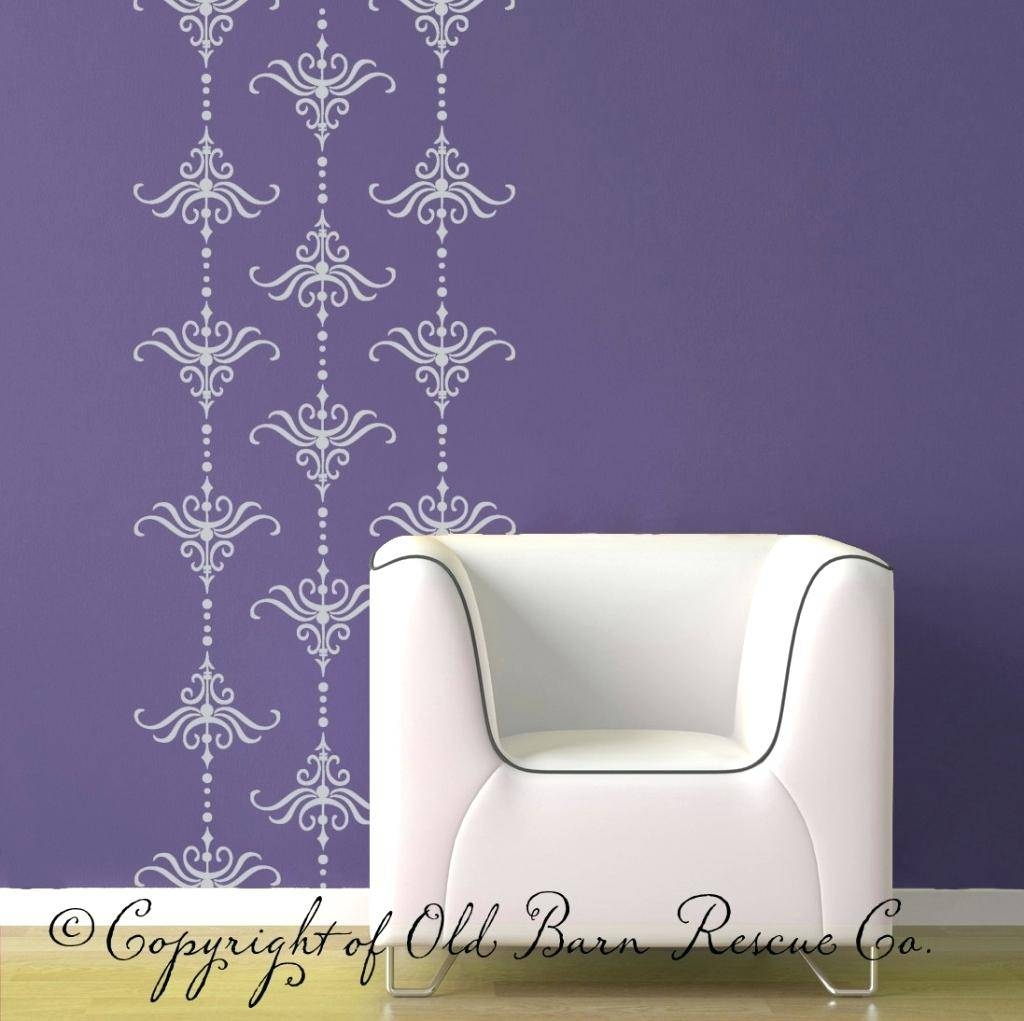 Damask Decals Wall Art Makeovers And Decoration For Modern Homes For Recent Modern Vinyl Wall Art (View 4 of 14)