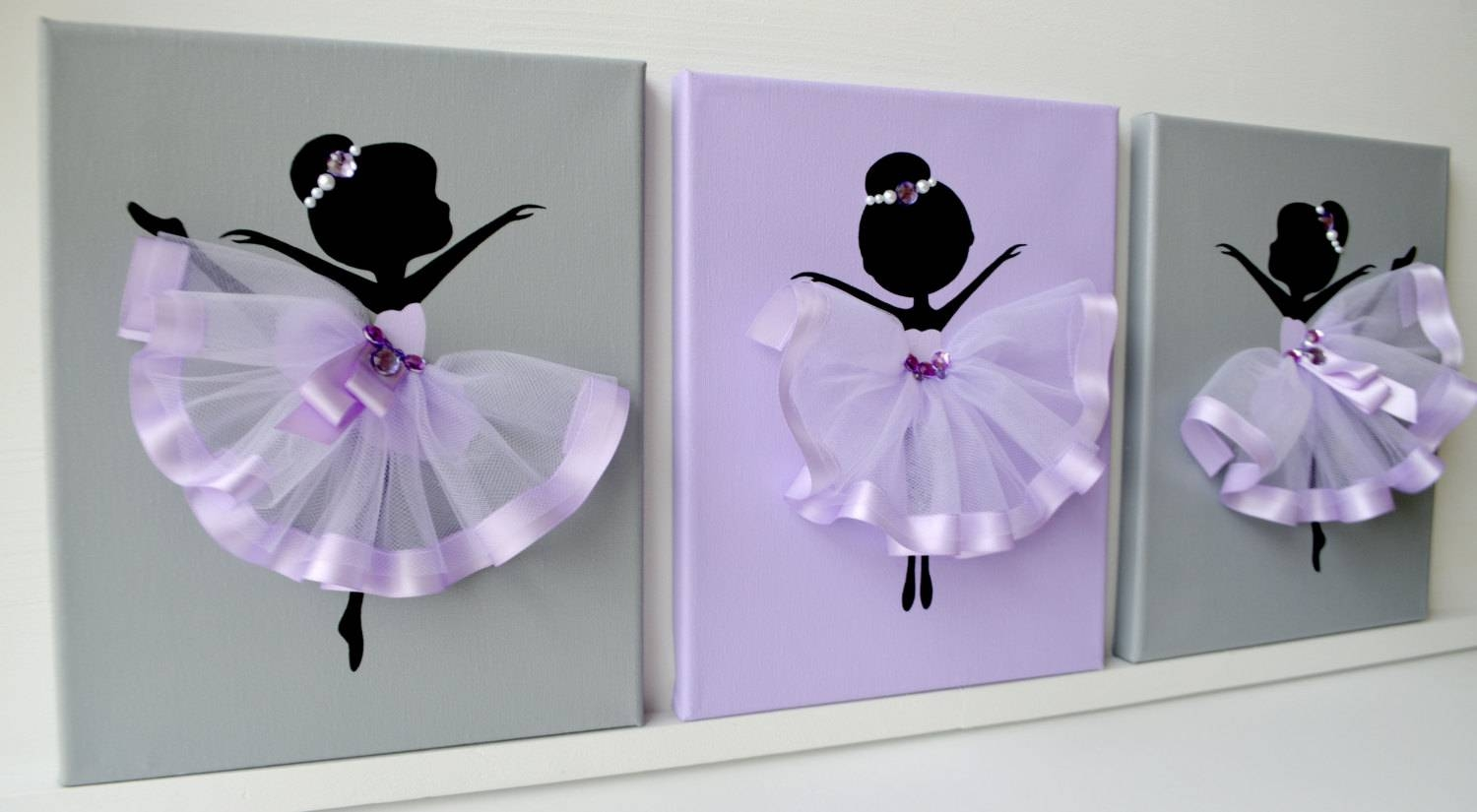 Dancing Ballerinas Wall Decor (View 6 Of 20)