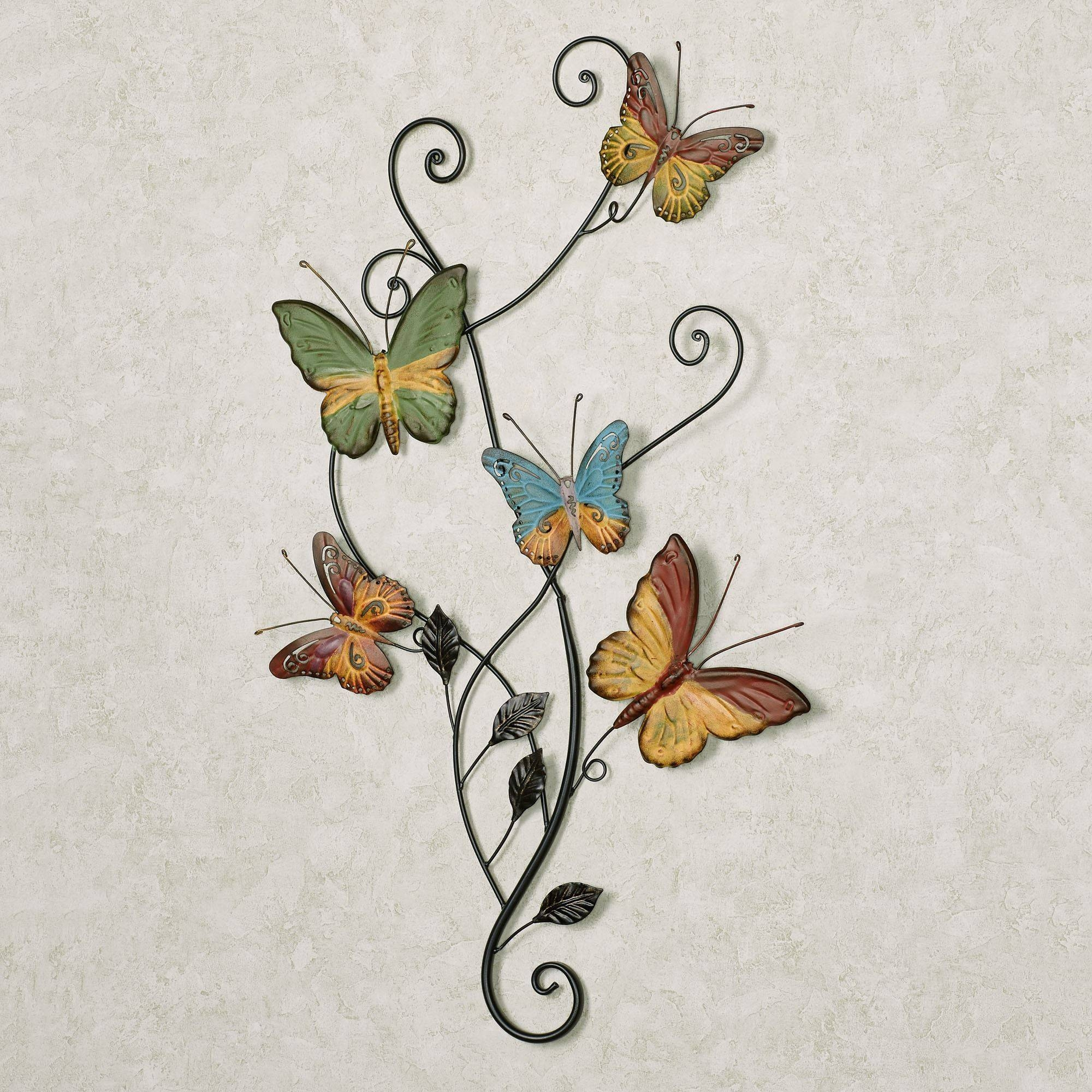 Dancing Butterflies Metal Wall Art For Latest Large Metal Butterfly Wall Art (View 8 of 25)