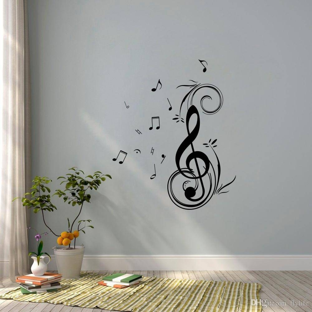 Dancing Music Note Wall Sticker Waterproof And Removable Vinyl For In Most Popular Music Note Wall Art (View 16 of 20)