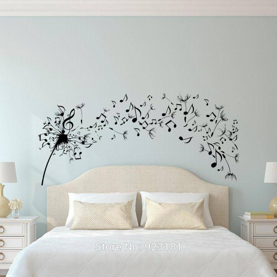 Dandelion Music Note Flower Wall Art Sticker Decal Home Diy With Most Current Music Note Wall Art Decor (View 3 of 20)