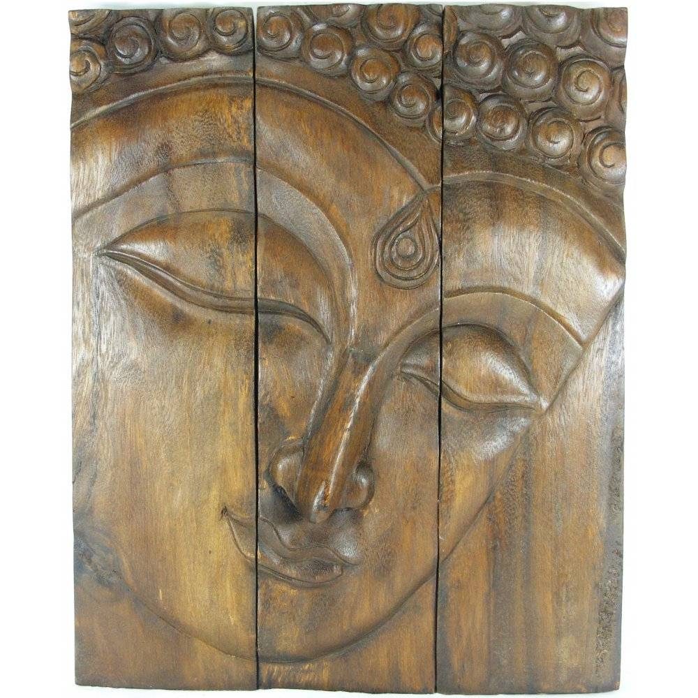 Dark Wood Buddha Face Wall Art In Most Up To Date Buddha Wooden Wall Art (View 6 of 20)
