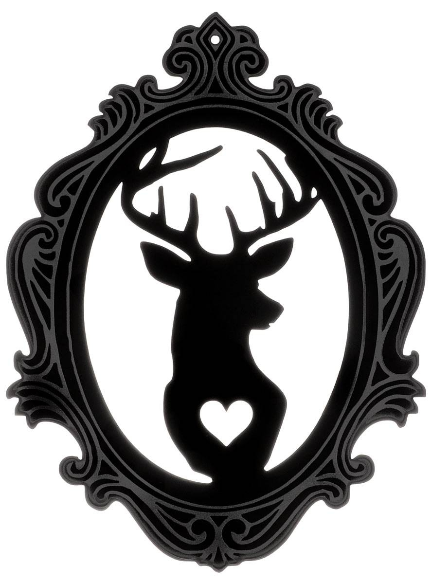 Darkling Deer Cameo Wall Artcurioddity | Nest | Plasticland Regarding Most Up To Date Cameo Wall Art (View 5 of 20)