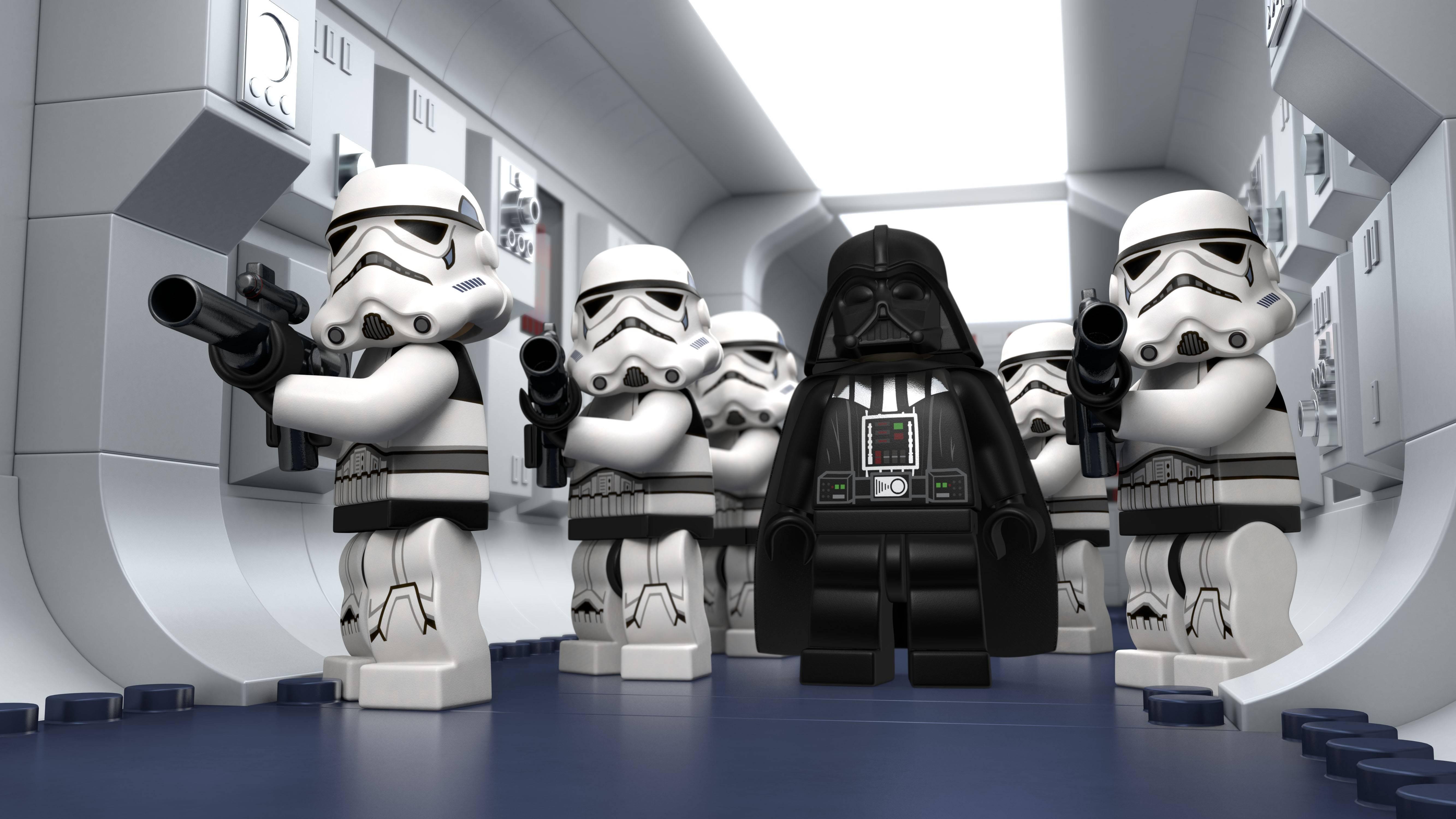 Darth Vader, #stormtrooper, #star Wars, #lego Star Wars, #render Within Newest Lego Star Wars Wall Art (View 11 of 20)