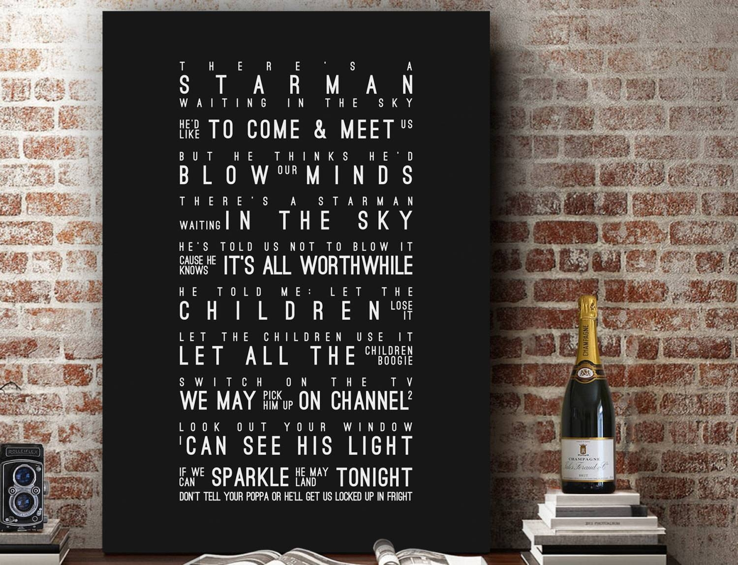 David Bowie Starman Inspired Lyrics Song Wall Art Song Lyrics With Regard To Most Recently Released Music Lyrics Wall Art (View 14 of 20)