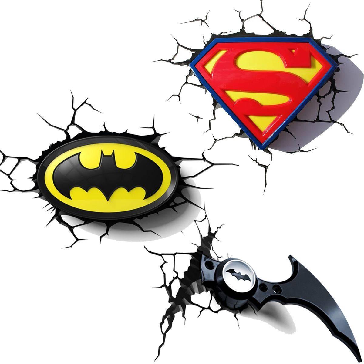 Explore photos of batman 3d wall art showing 3 of 20 photos dc comics batman superman 3d wall lights nightlight bedroom with regard to most popular batman aloadofball Images