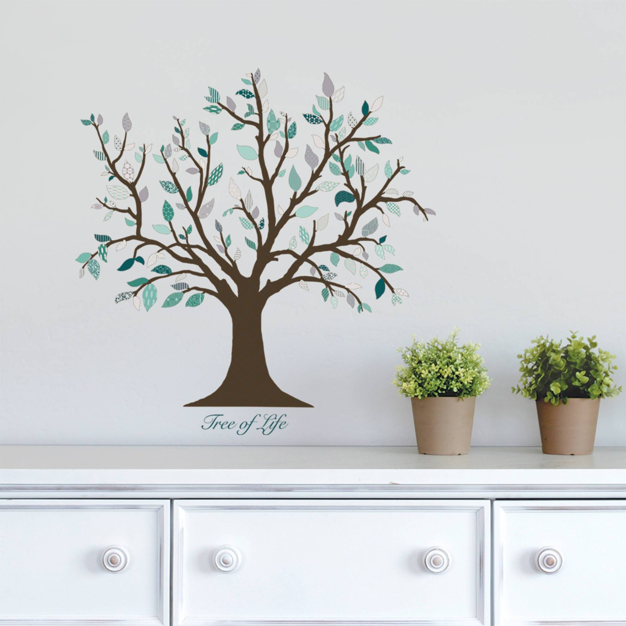 Dcwv Vinyl Tree Of Life Wall Decal – Walmart Regarding Most Recent Walmart Wall Stickers (View 5 of 25)