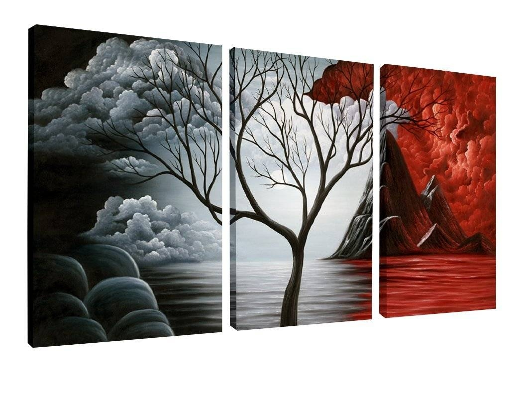 Decor: 5 Panel Wall Art Painting Ocean Beach Decor Canvas Wall Art Intended For Most Recently Released Jungle Canvas Wall Art (View 13 of 20)