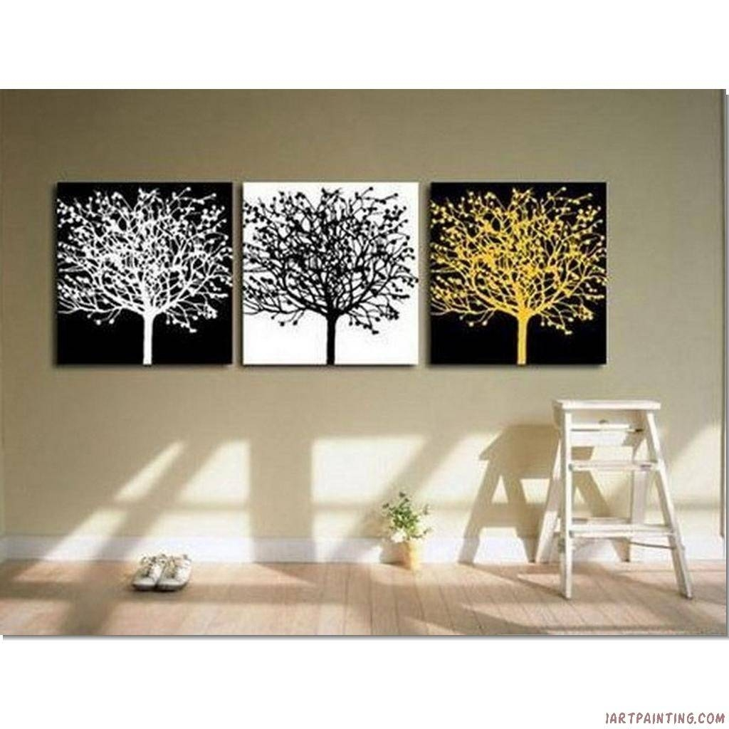 Decor: Abstract Painting Canvas Wall Art Set Of 3 And Interior For Recent Canvas Wall Art Sets Of (View 17 of 25)
