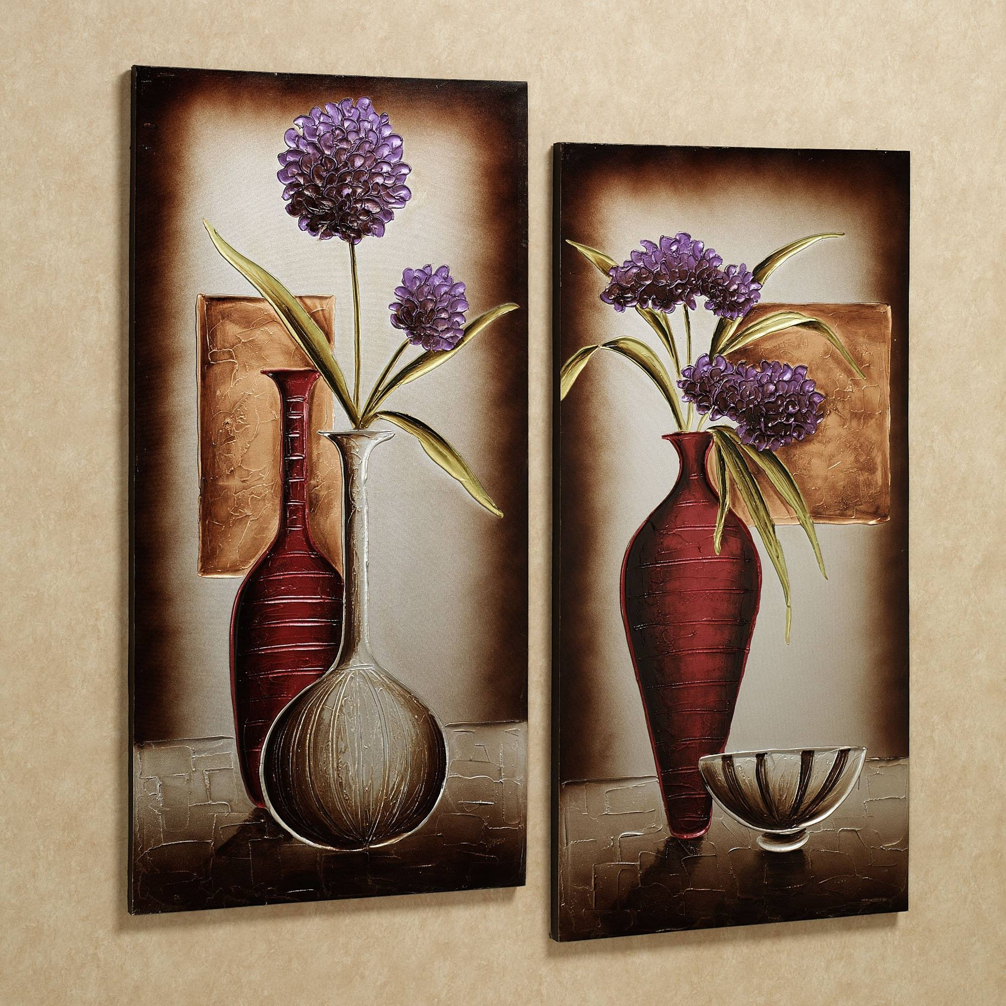 Decor: Amusing Canvas Wall Art Sets Of 3 On Copper Metal Art For Wall Pertaining To Most Recent Canvas Wall Art Sets Of  (View 11 of 25)