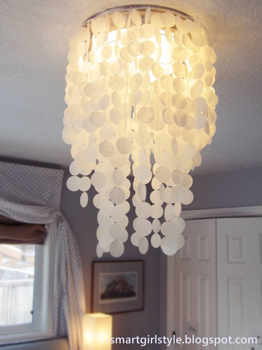 Decor: Smart Girl Style Capiz Shell Chandelier With White Curtains In Best And Newest Capiz Shell Wall Art (View 15 of 30)
