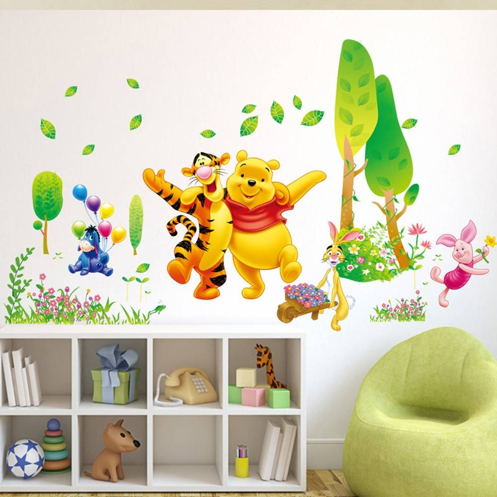 Decor Winnie The Pooh Wall Decals Kids Bedroom & Baby Nursery With Regard To Most Up To Date Winnie The Pooh Wall Art For Nursery (View 15 of 15)