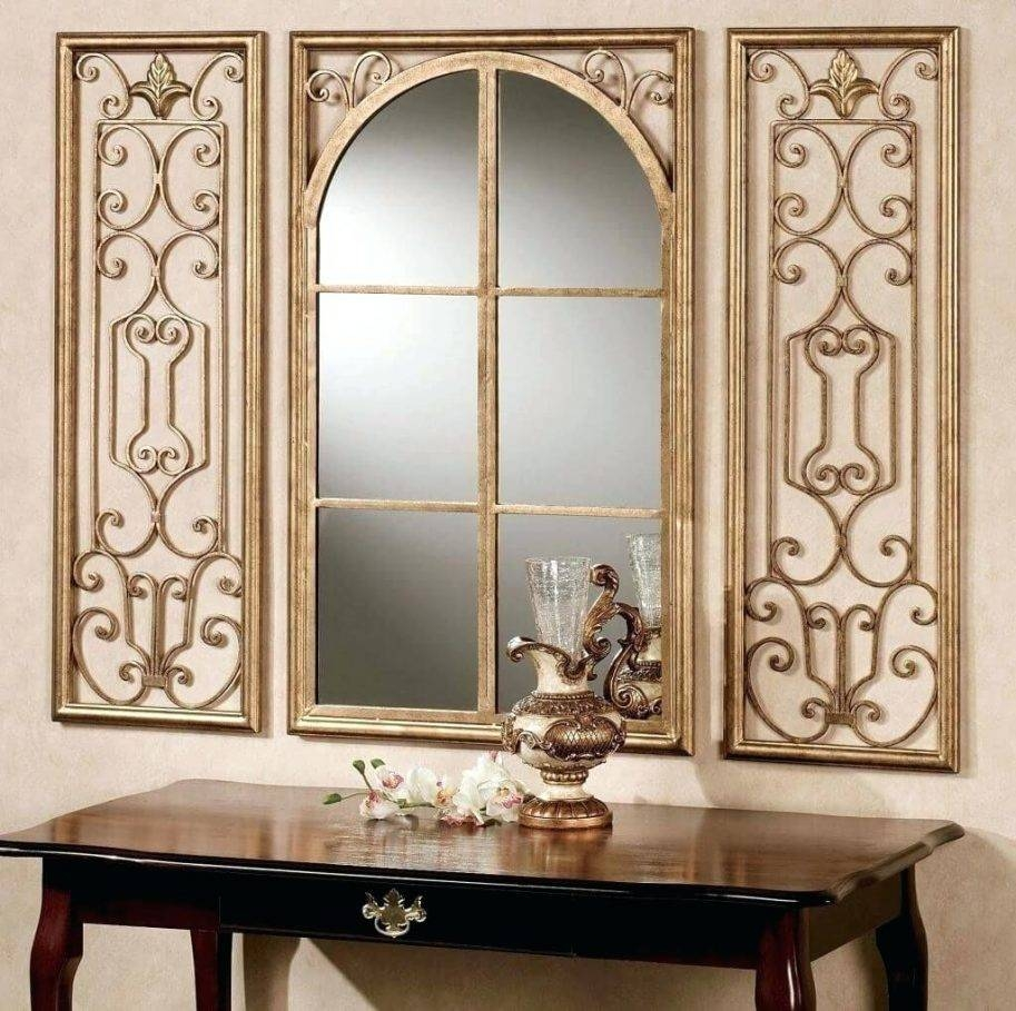 Decorating Attractive Circular Metal Mirror Wall Decor Ideas For Intended For Most Recently Released Abstract Mirror Wall Art (View 5 of 15)