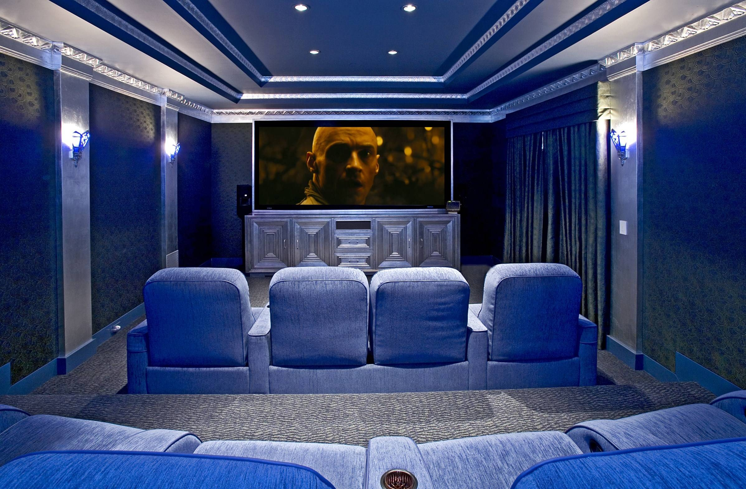 Decorating Ideas A Media Room Wall Art Theater Rooms In Homes Home Pertaining To Most Recently Released Media Room Wall Art (View 5 of 20)