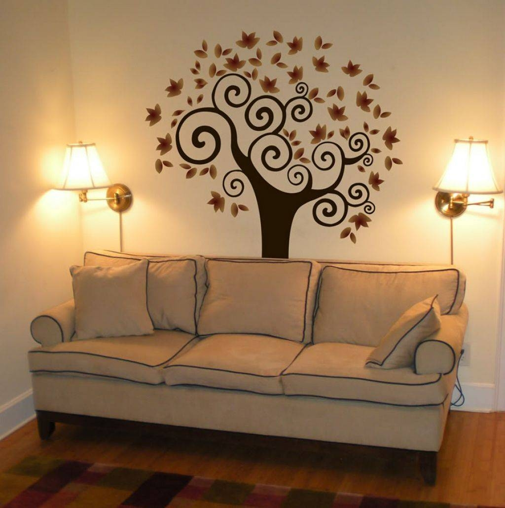 Decoration For Your Home Interior With Stunning Tree Images Wall Art Within Most Popular Painted Trees Wall Art (View 6 of 20)