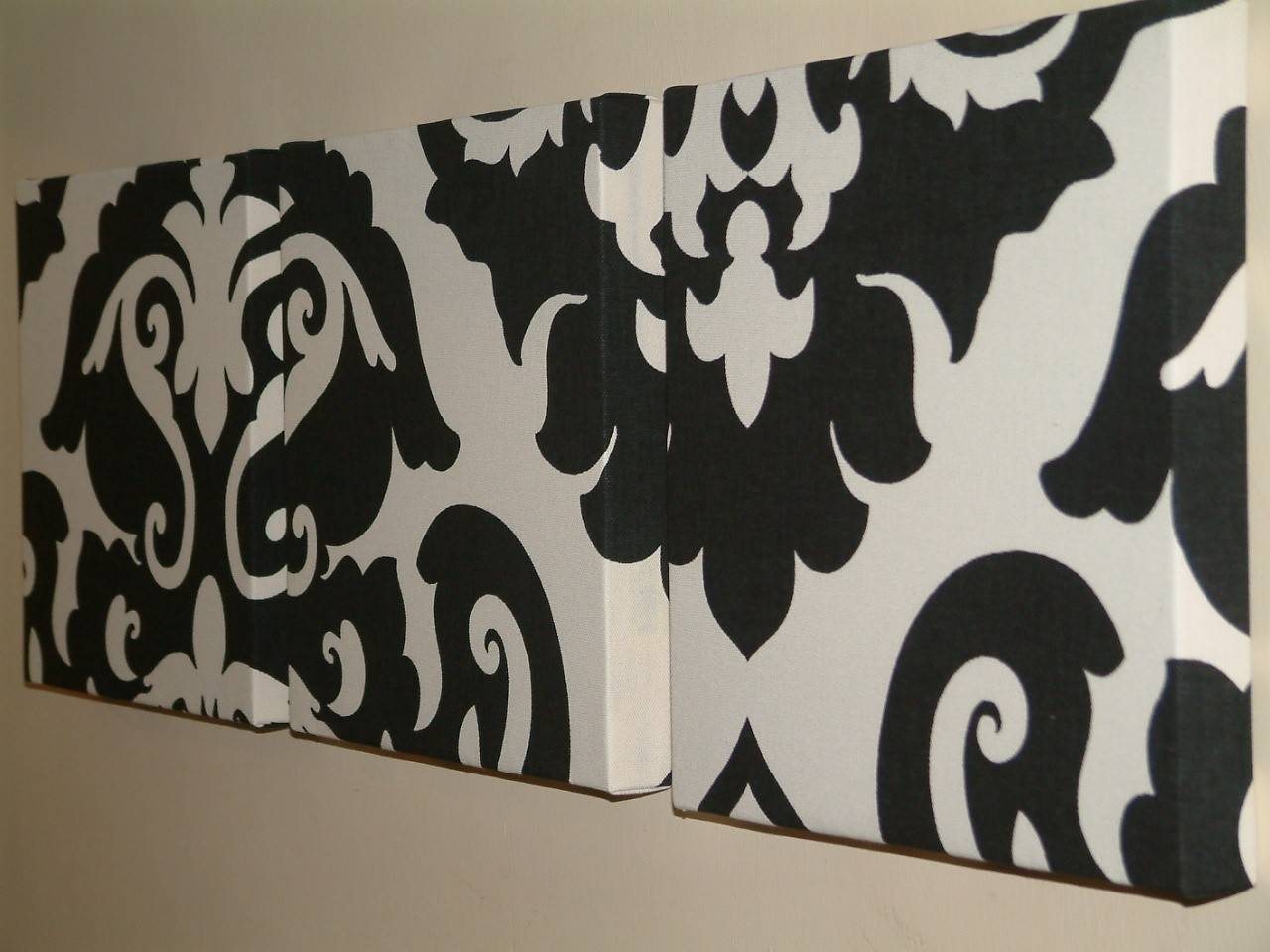 Decoration Ideas: Great Wall Decoration For Living Room And Within Most Recent Black And White Damask Wall Art (View 2 of 30)