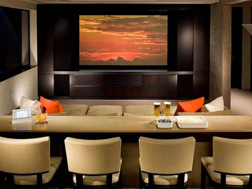 Decorations : Adorable Small Home Theater Library Design Open Plan Throughout Most Popular Home Theater Wall Art (View 4 of 30)