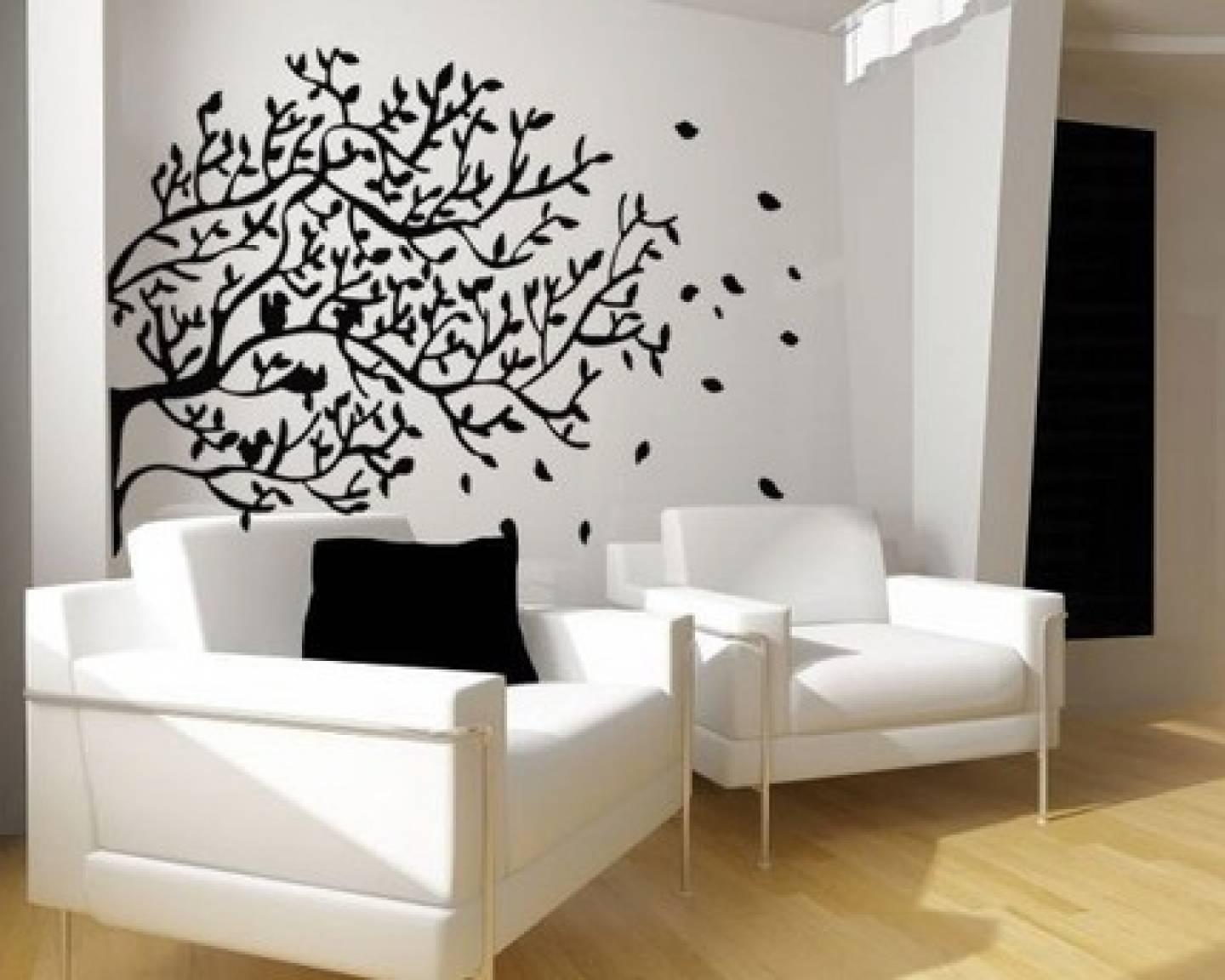Decorations Astonishing Art Wall Hung In Grid Grey Paint Pertaining To 2017 Painted Trees