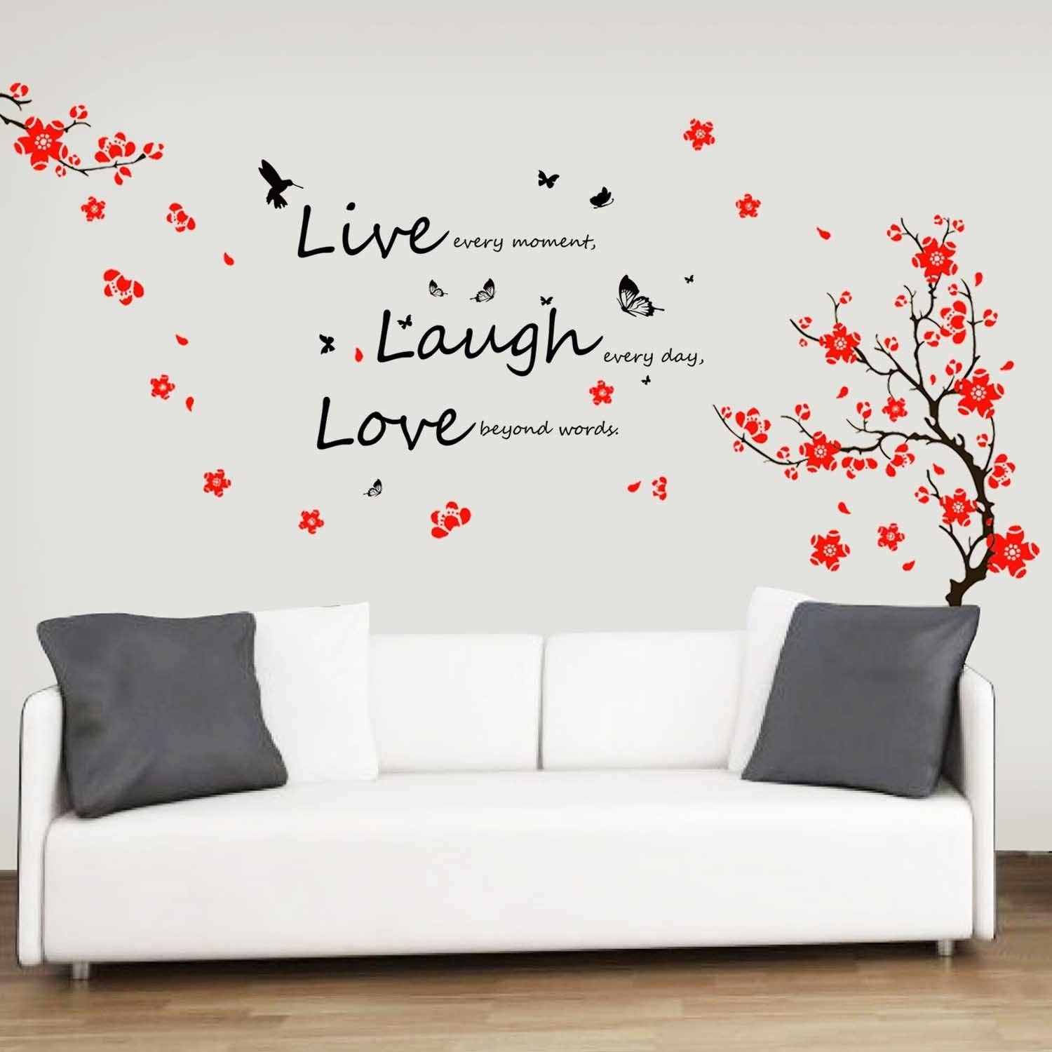 Decorations: Beautiful Bedroom Wall Decor 3D Bedroom Room Wall With Newest Decorative 3D Wall Art Stickers (View 13 of 20)