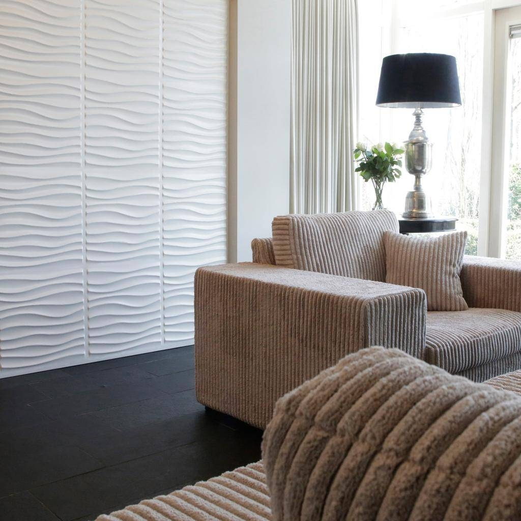 Decorative 3D Mdf Wood Wall Panels – Niki Design Intended For Most Current 3D Wall Panels Wall Art (View 8 of 20)
