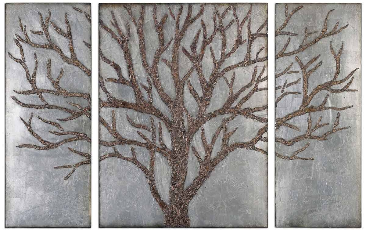 Decorative Metal Wall Art Panels – Homes Zone Throughout Recent Horizontal Metal Wall Art (View 5 of 20)