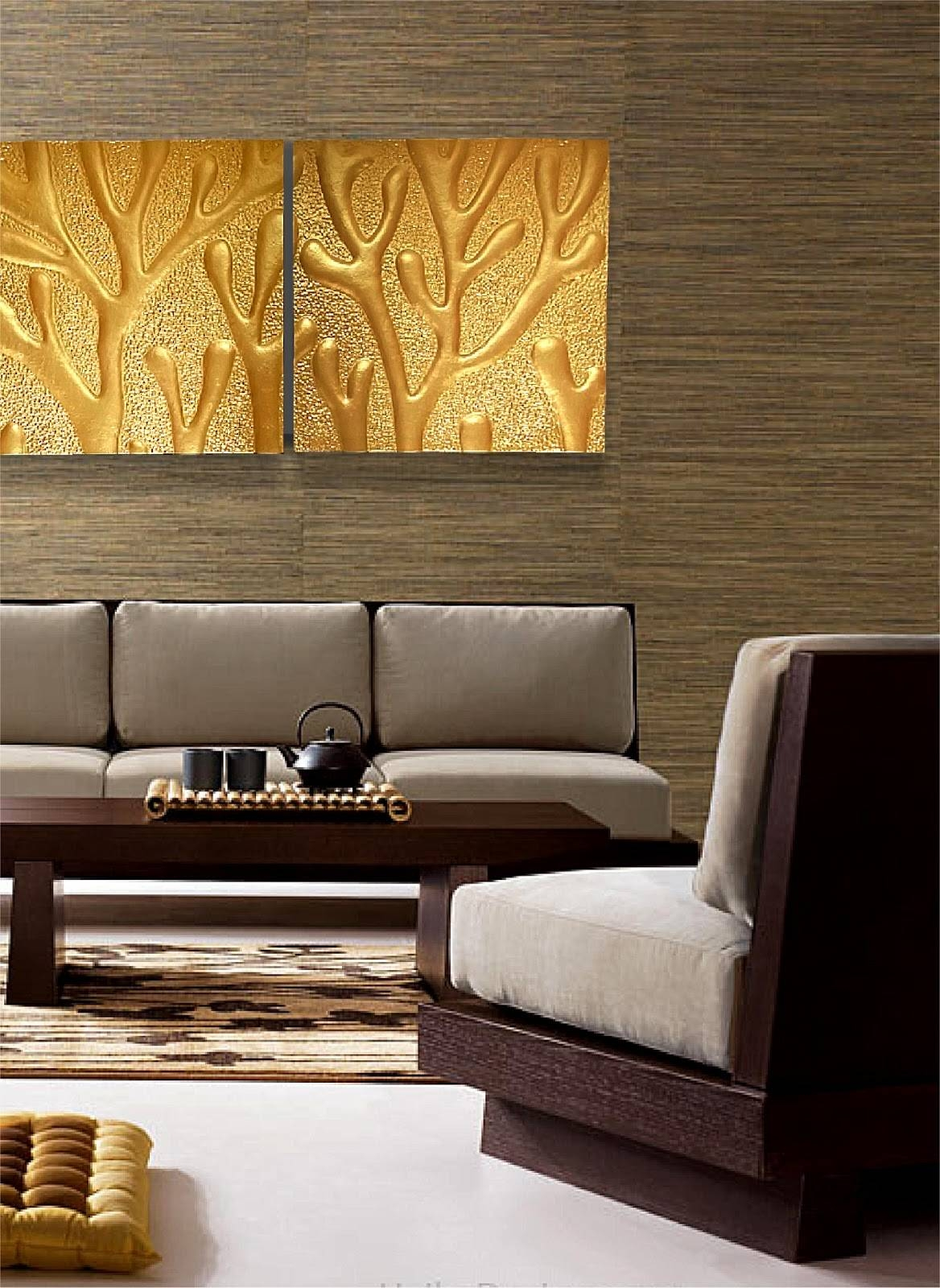 Decorative Wall Panels Singapore Hand Made Modern Canvas Oil Intended For Newest Japanese Wall Art Panels (View 8 of 25)