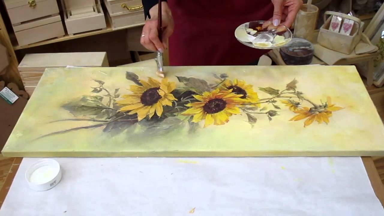 Decoupage Tutorial – Diy. Decoupage On Canvas (View 24 of 30)