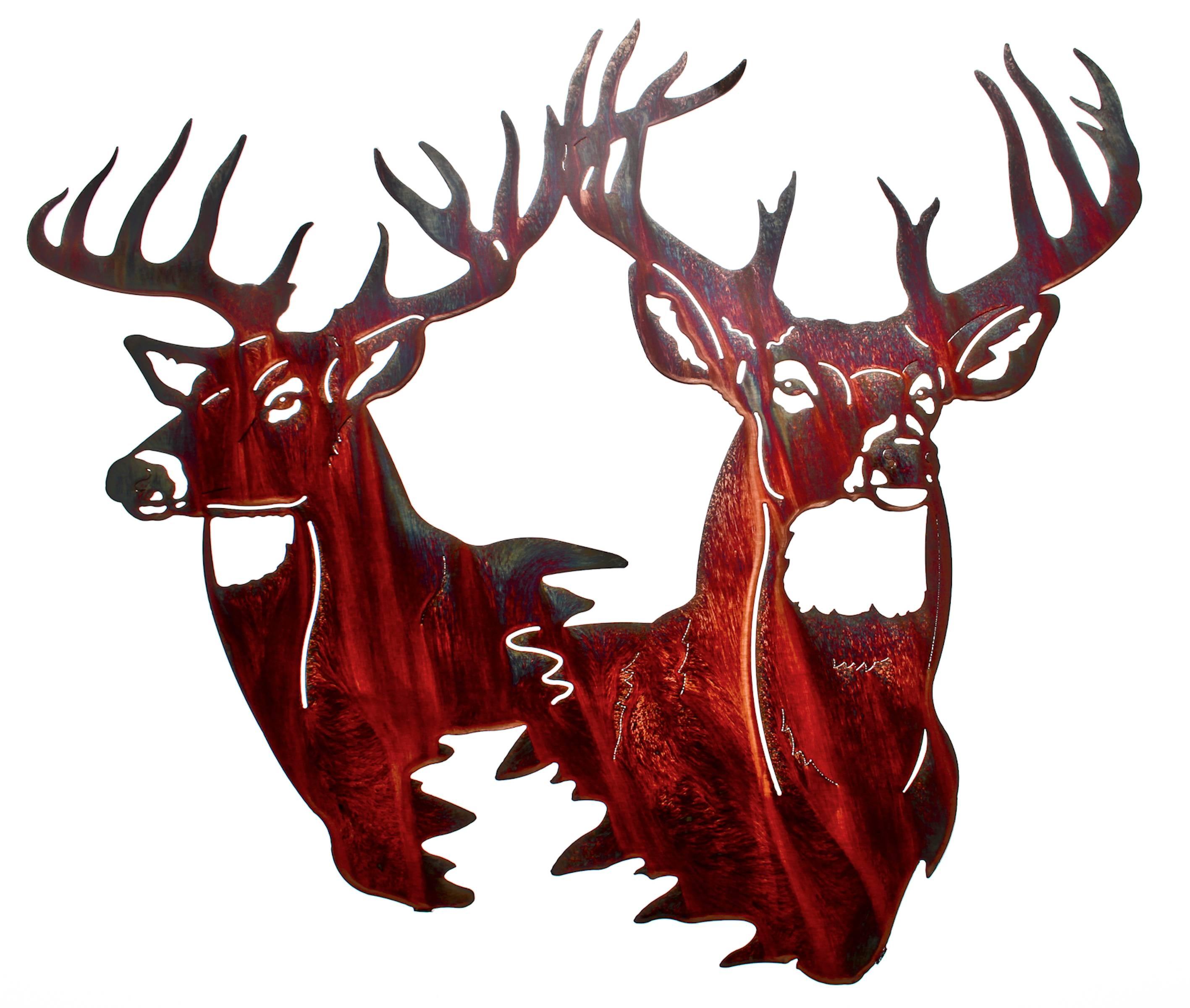 Deer Wall Art, Deer Wall Hangings, Metal Wall Sculptures With Current Lazart Metal Art (View 12 of 30)