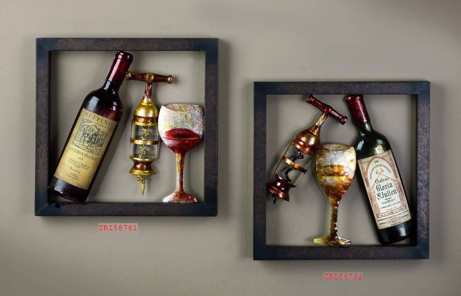 Delightful Ideas Wine Wall Art Amazing Chic Wine – Wall Shelves Inside 2017 Wine Metal Wall Art (View 4 of 20)