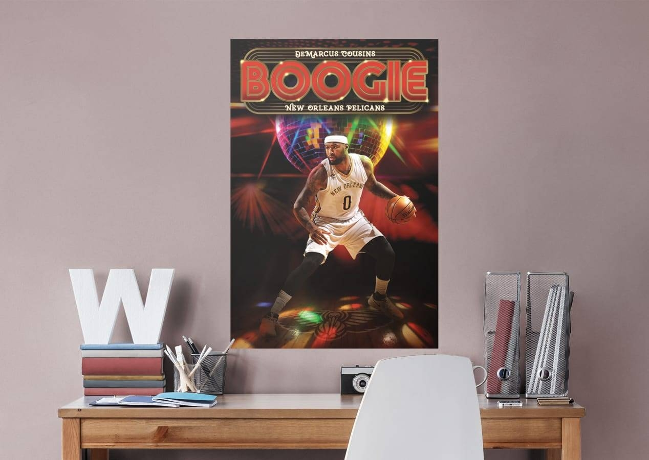 Demarcus Cousins Boogie Mural Wall Decal   Shop Fathead® For New Within Most Popular Nba Wall Murals (View 6 of 25)