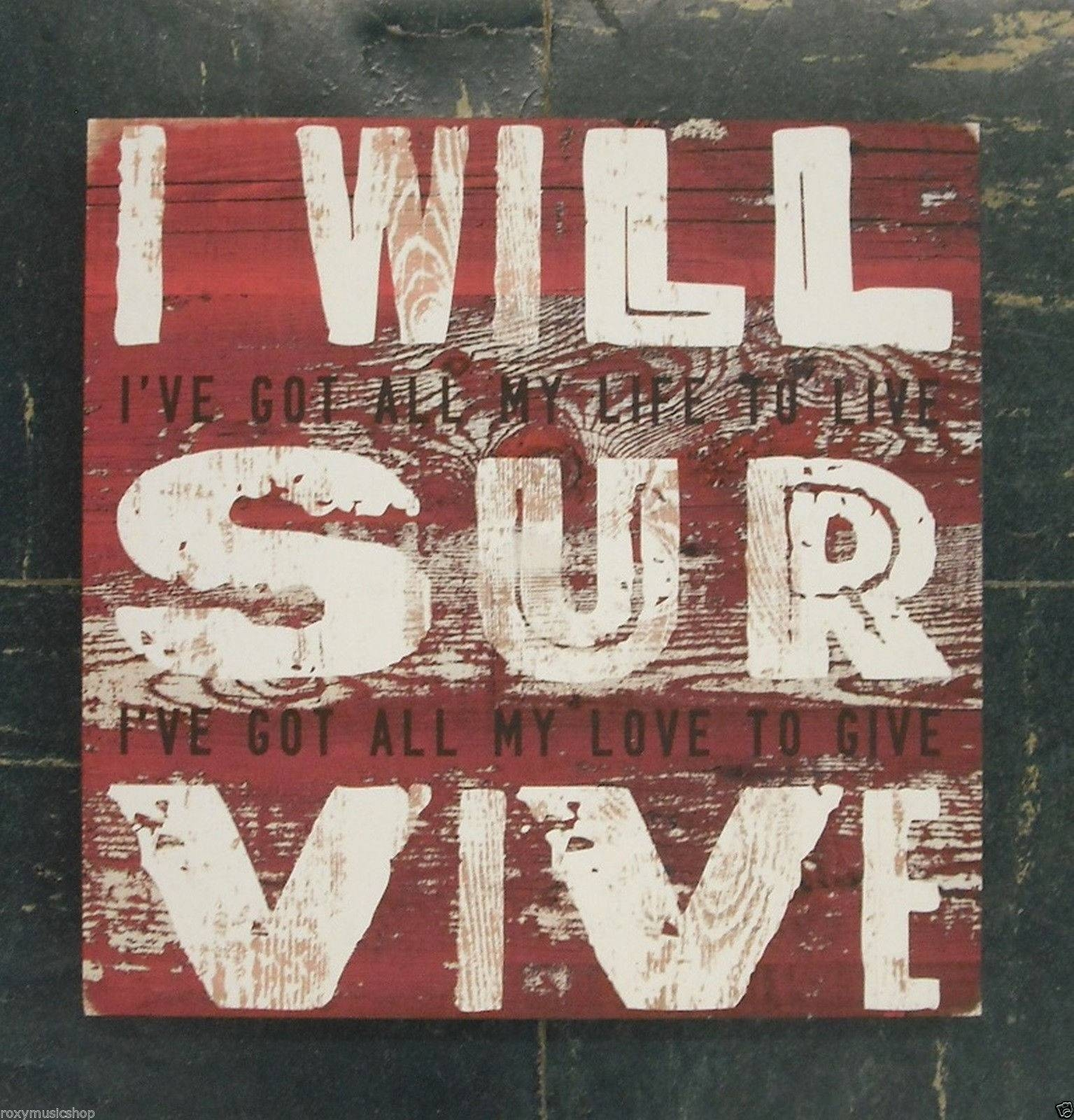 Demdaco Lyricology I Will Survive Wall Art | Ebay Inside Recent Lyricology Wall Art (View 11 of 20)