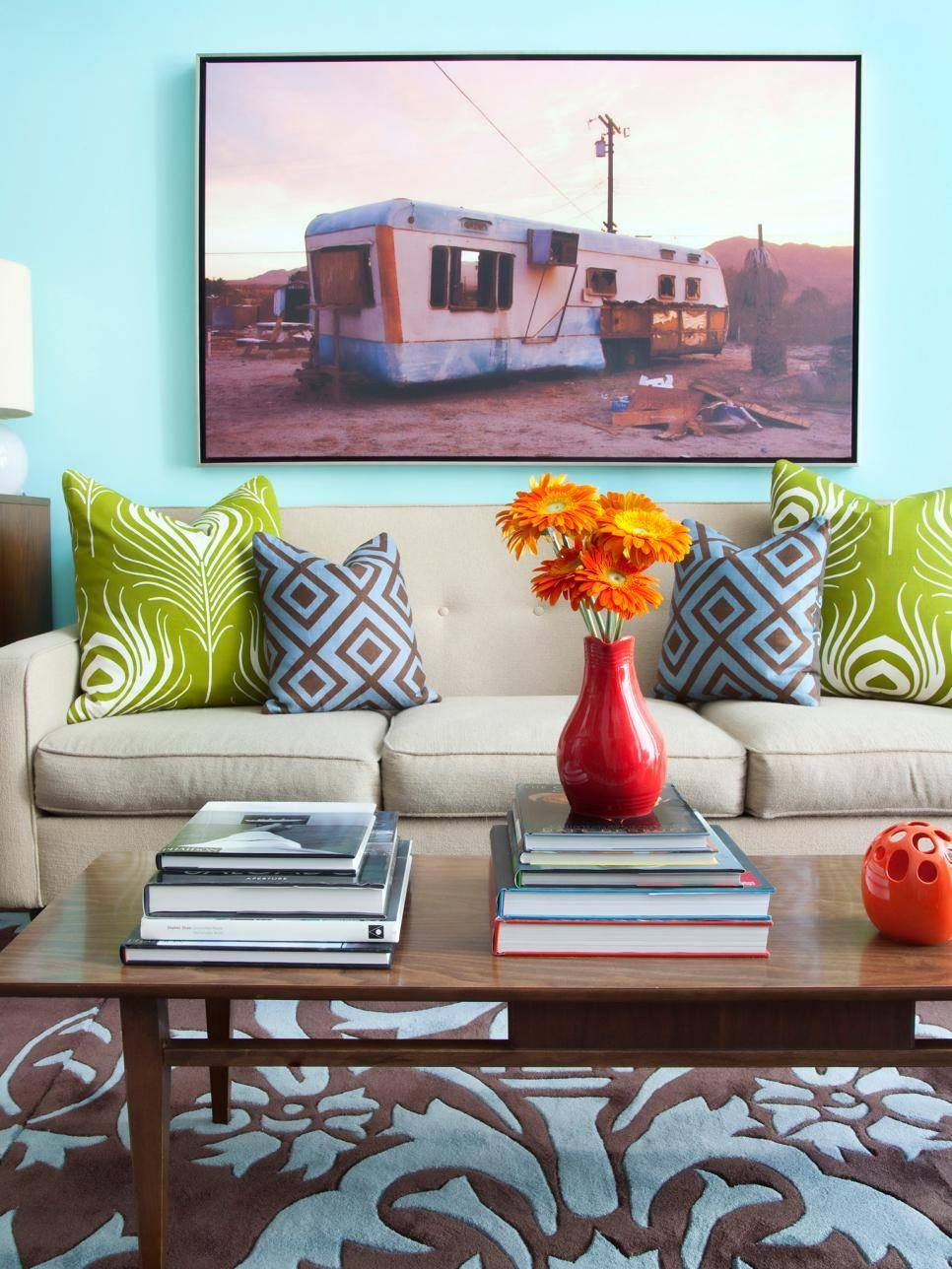 Design Behind The Living Room Sofa | Hgtv In Best And Newest Wall Pictures For Living Room (View 8 of 20)