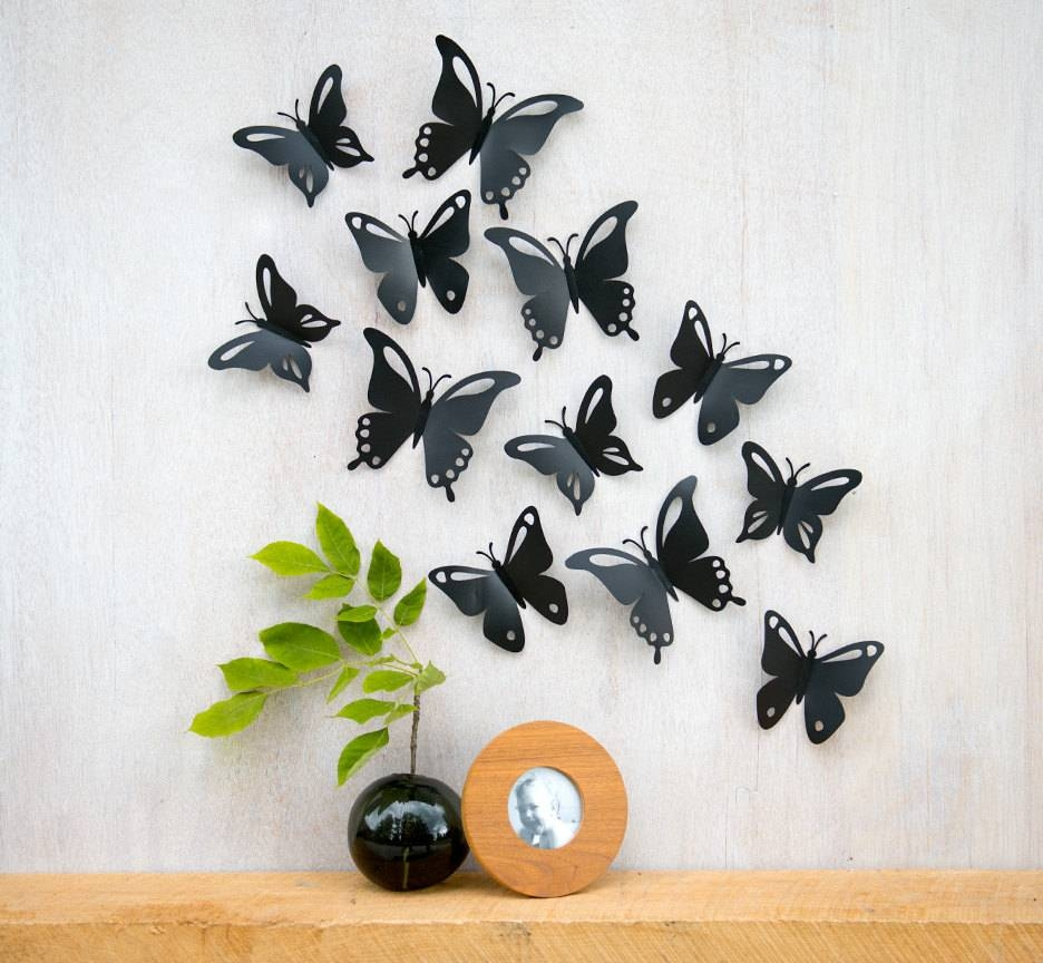 Design Ideas For 3d Butterfly Wall Décor — Unique Hardscape Design With Regard To Most Recent 3d Butterfly Wall Art (View 9 of 20)