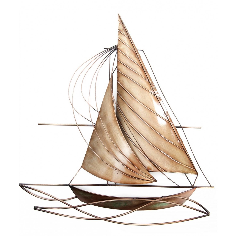 Designer Sailing Boat Metal Wall Art Pertaining To Most Recent Sailboat Metal Wall Art (View 12 of 30)