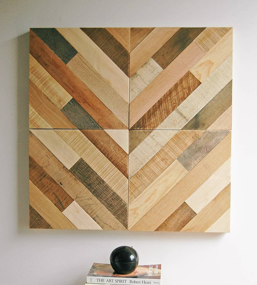 Diagonal Pattern Reclaimed Wood Wall Art | Art Art Pieces | Six Within Most Recent Wood Wall Art Panels (View 6 of 20)