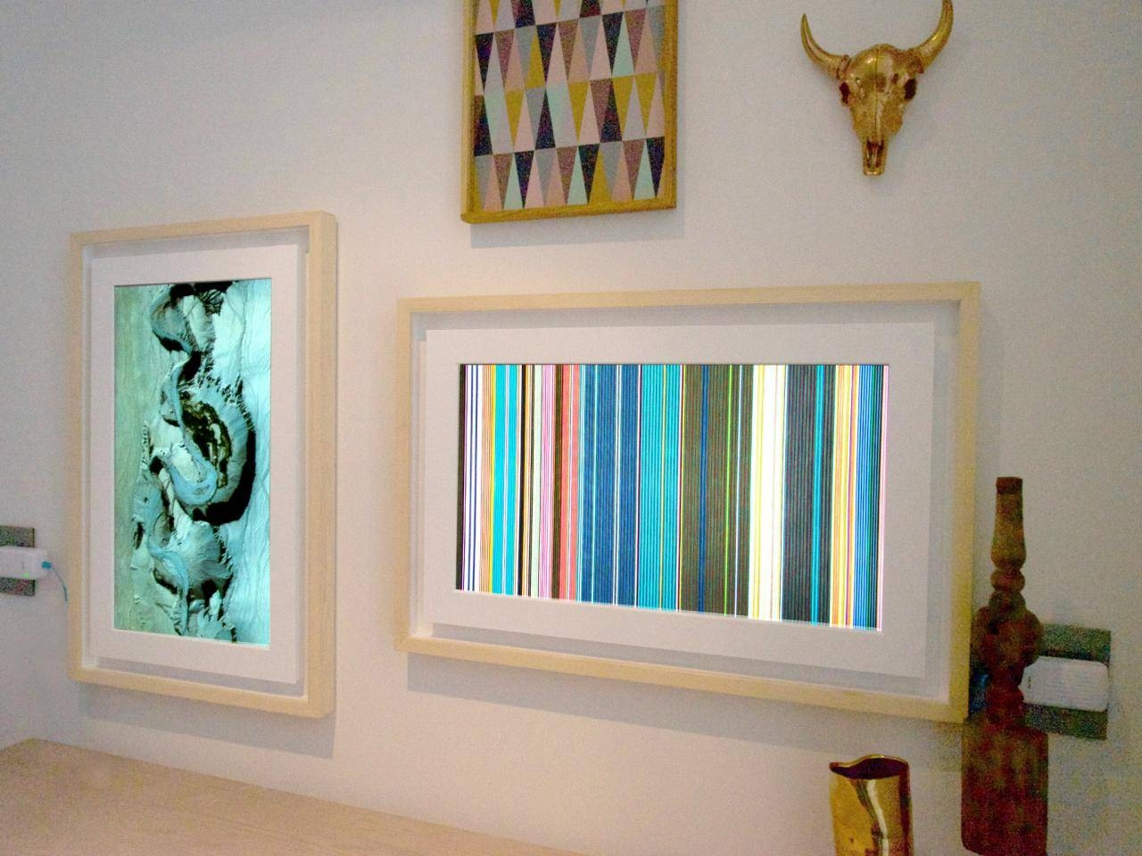 Digital Picture Frames Have Grown Up Into Wall Art | Hgtv Smart With Newest Wall Art Frames (View 2 of 20)