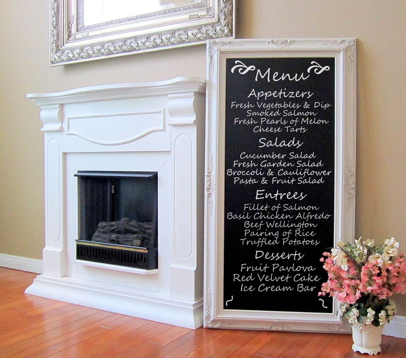 Dining Room Decor Wall Art French Furniture Chalkboard Long Regarding Latest Long Vertical Wall Art (View 8 of 20)