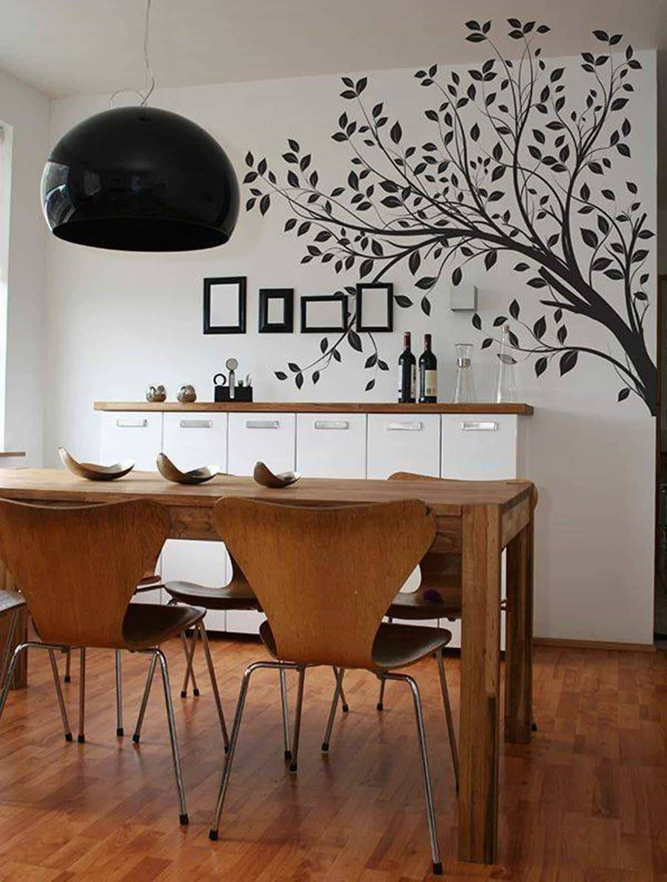 Dining Room Wall Art Tree Decal – Beautiful Dining Room Wall Art Intended For Most Up To Date Dining Wall Art (View 15 of 25)