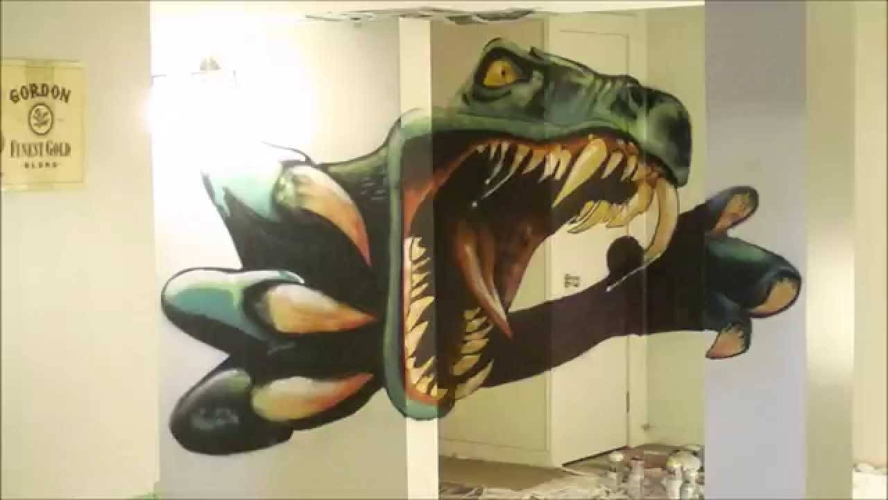 Dinosaur Timelapse Spray Paint – Youtube For Latest Dinosaurs 3d Wall Art (View 10 of 20)