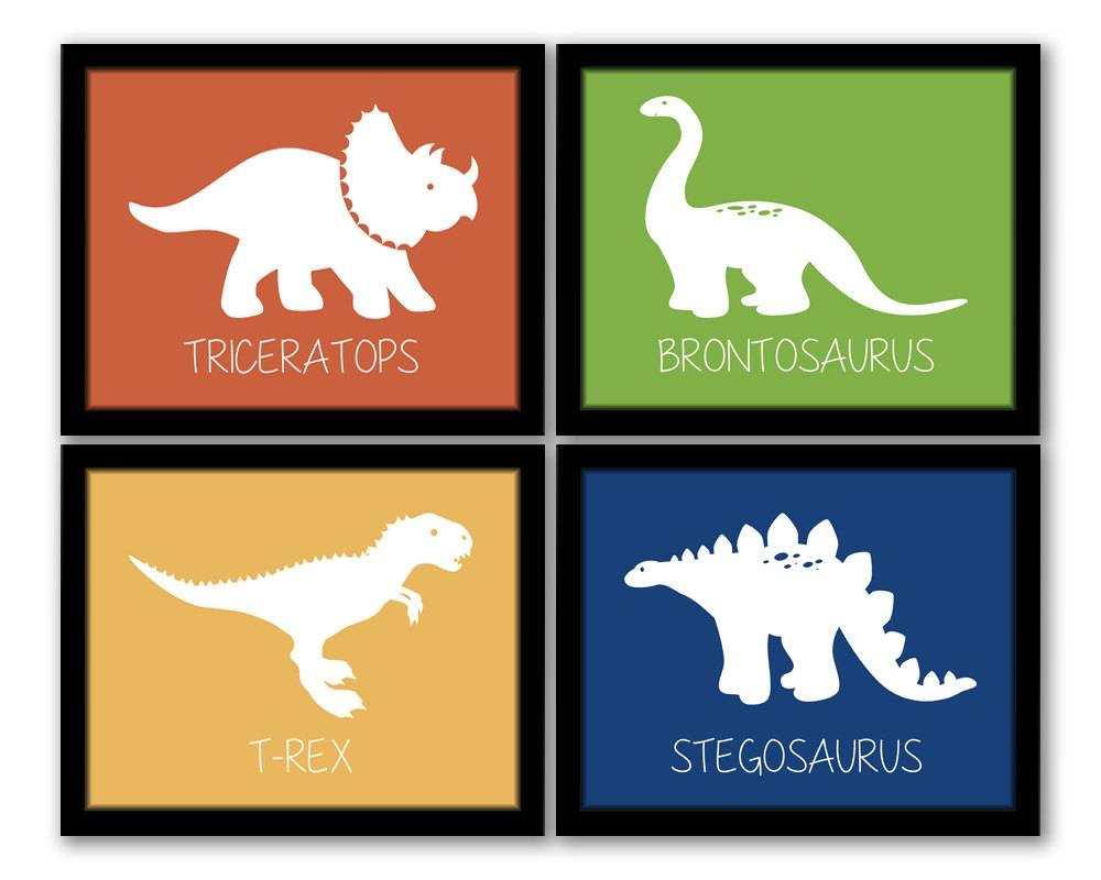 Dinosaur Wall Art Dinosaur Decor Dinosaur Nursery Boy Throughout Most Up To Date Dinosaur Wall Art For Kids (View 12 of 20)