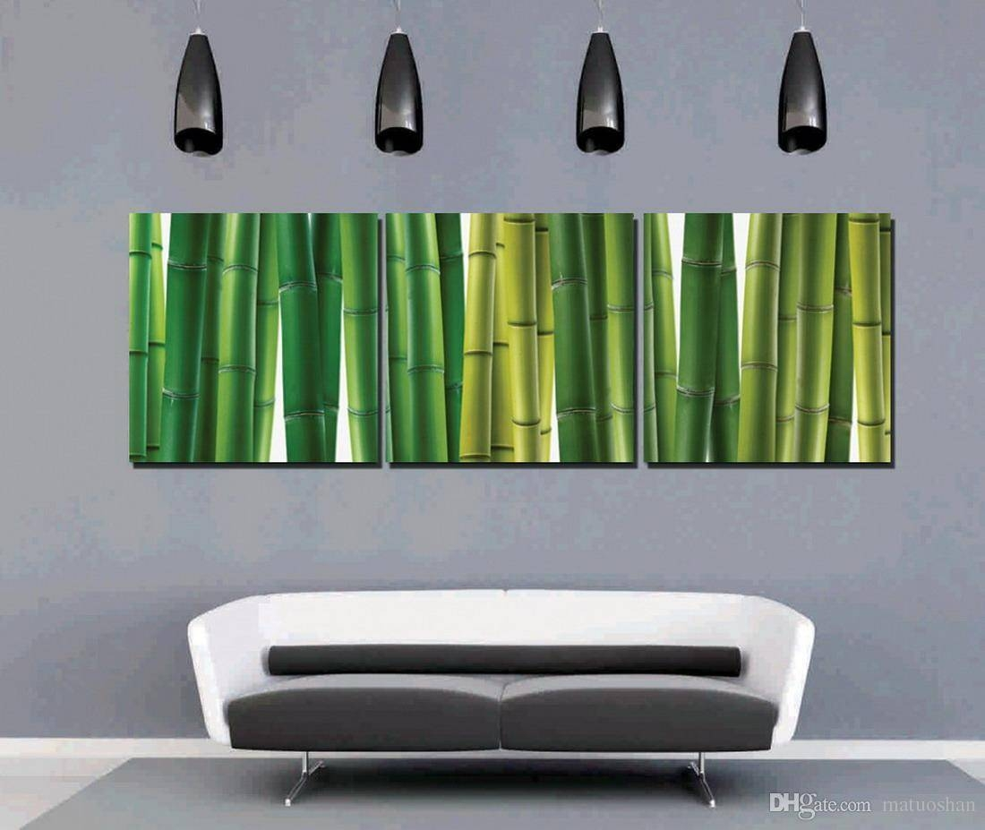 Discount Feng Shui Wall Art Giclee Print On Canvas Green Bamboo Hd Regarding Most Popular Feng Shui Wall Art (View 7 of 20)
