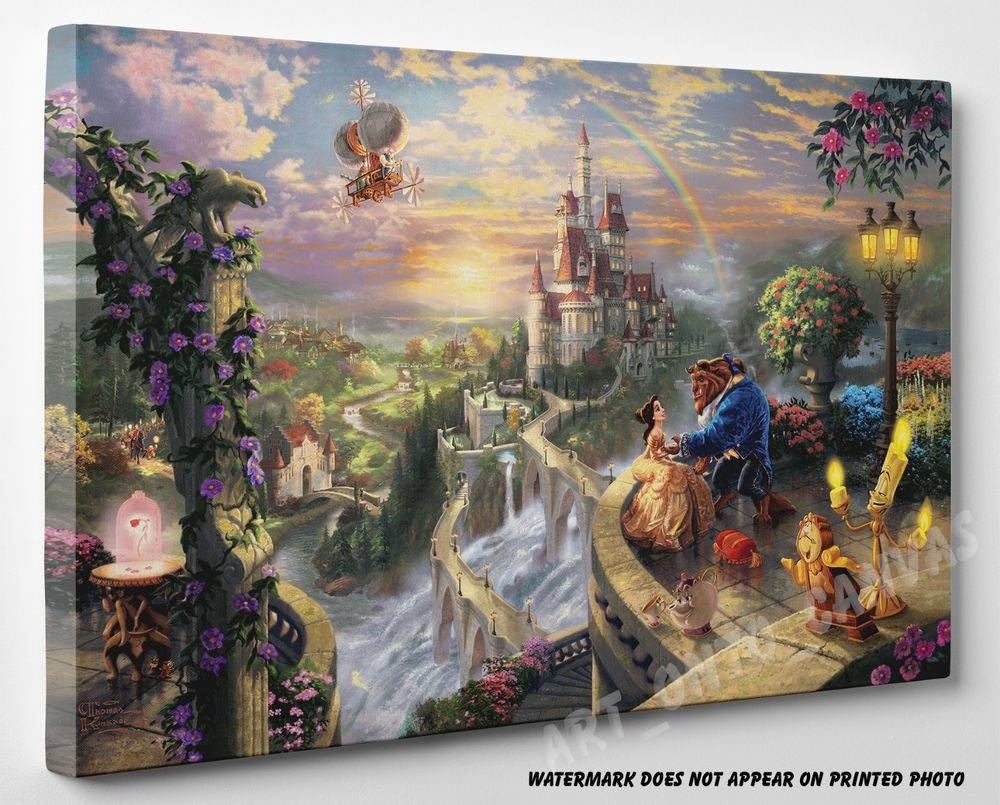 Disney Canvas Prints | Ebay Intended For Most Recently Released Disney Canvas Wall Art (View 7 of 20)