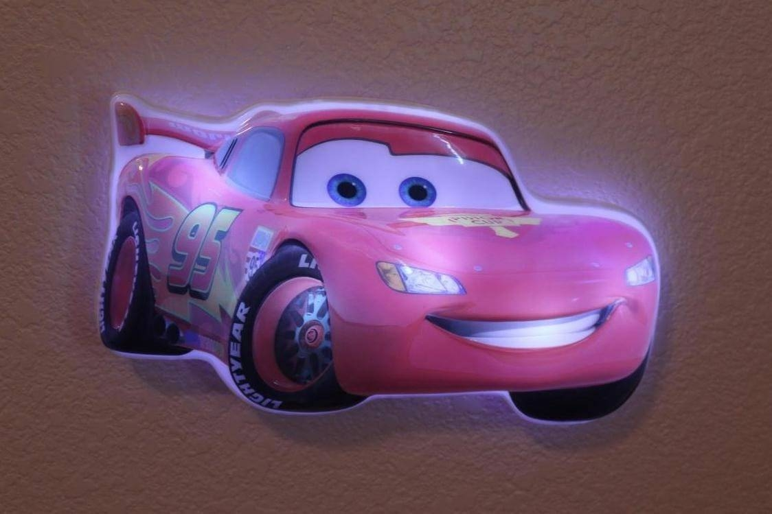 Disney Cars Lightning Mcqueen Wall Friends Light Up Talking Night For Most Recent Lightning Mcqueen Wall Art (View 6 of 20)