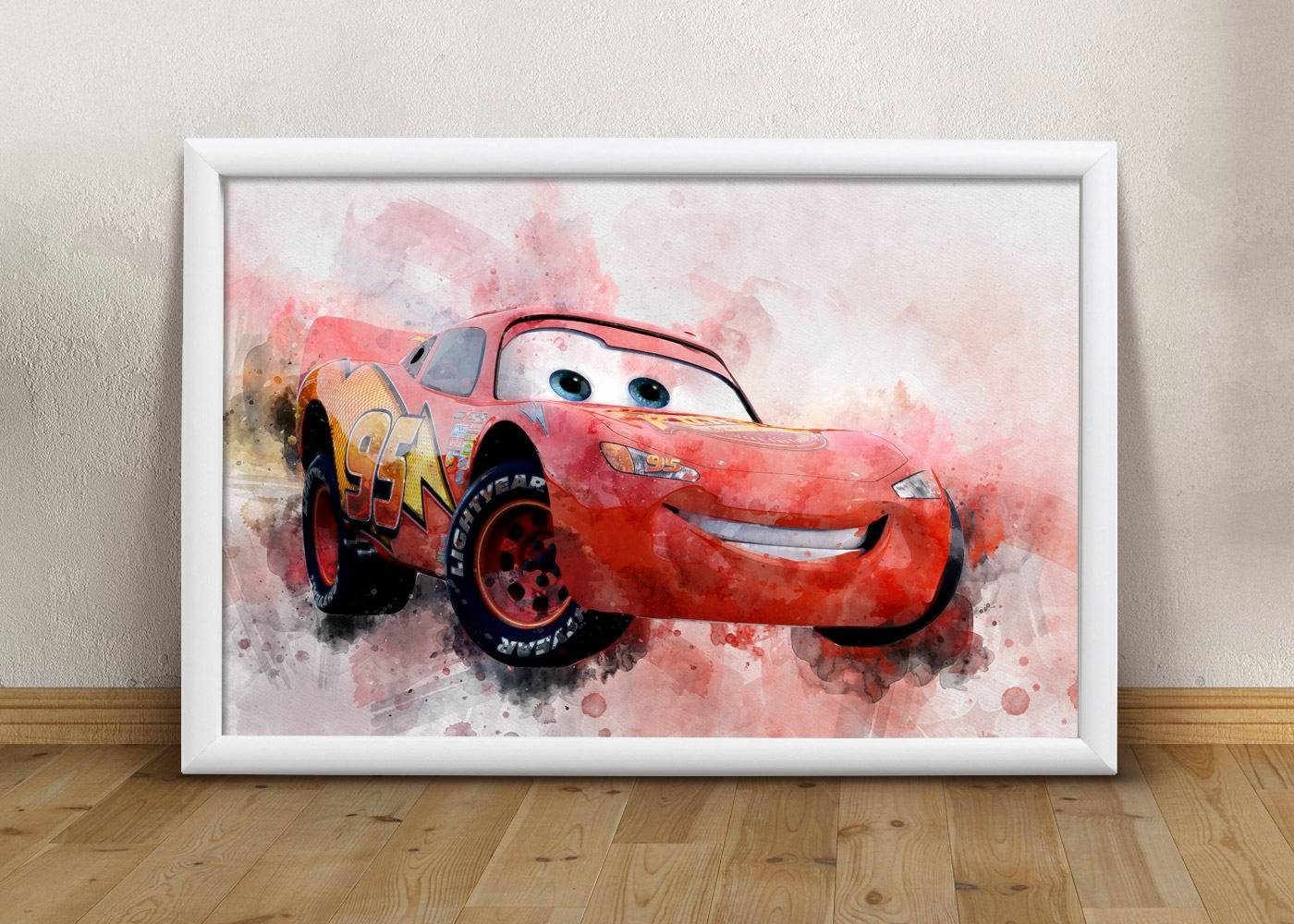 Disney Cars Printable Art Cars Lightning Mcqueen Wall Art Boys Regarding 2017 Lightning Mcqueen Wall Art (View 9 of 20)