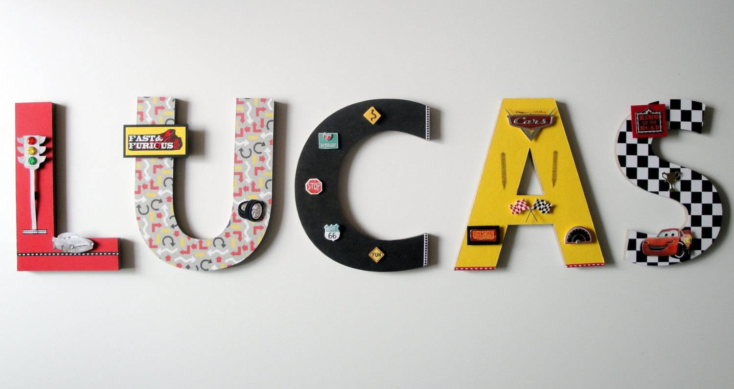 Disney Cars Wall Letters 8 3D Custom Wall Letters With Regard To 2018 Cars 3D Wall Art (View 11 of 20)