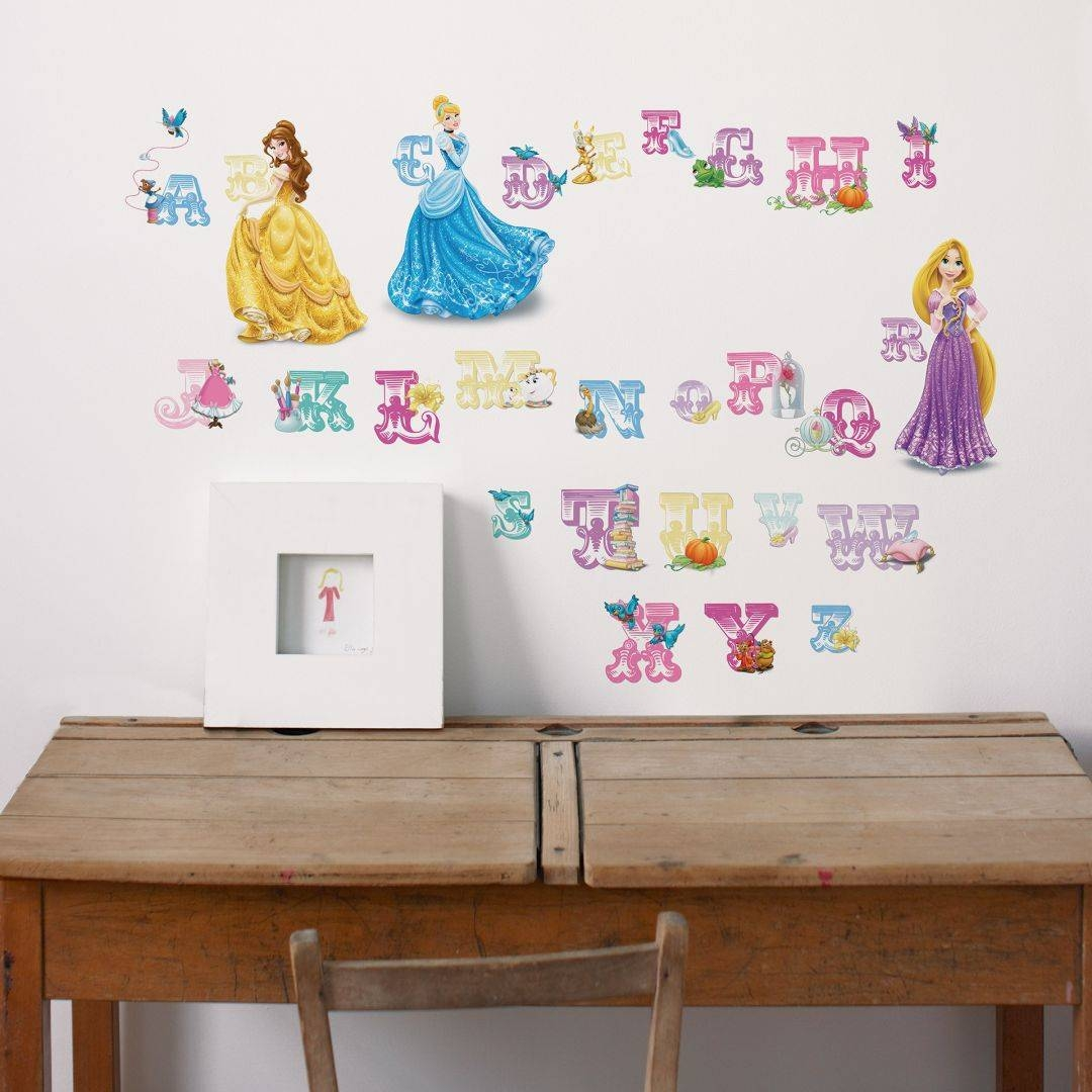 Disney Princess – Alphabet Letters Wall – Wall Art For Most Recent Disney Princess Wall Art (View 6 of 20)