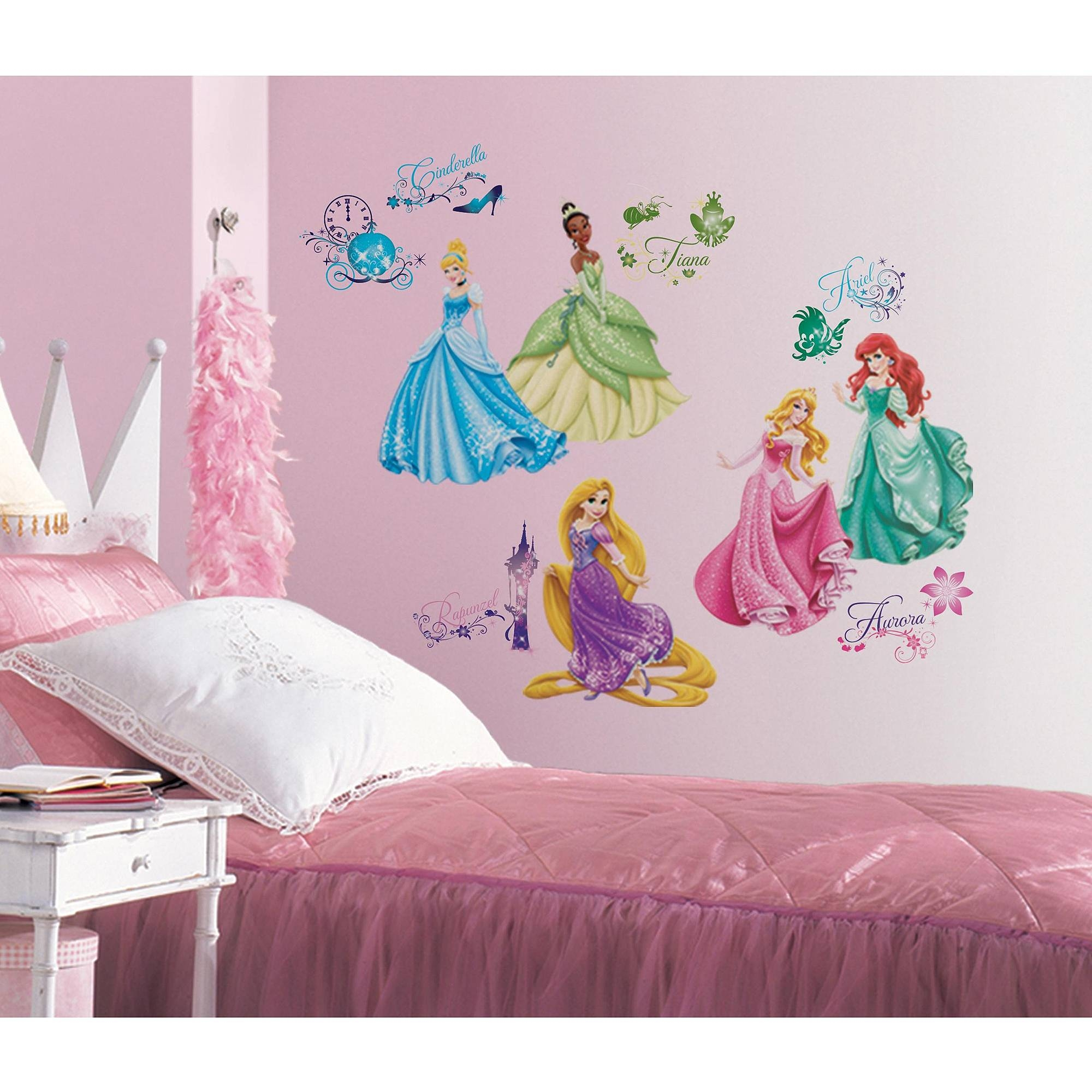 Disney Princess Royal Debut Peel And Stick Wall Decals – Walmart Pertaining To Current Preschool Classroom Wall Decals (View 9 of 30)