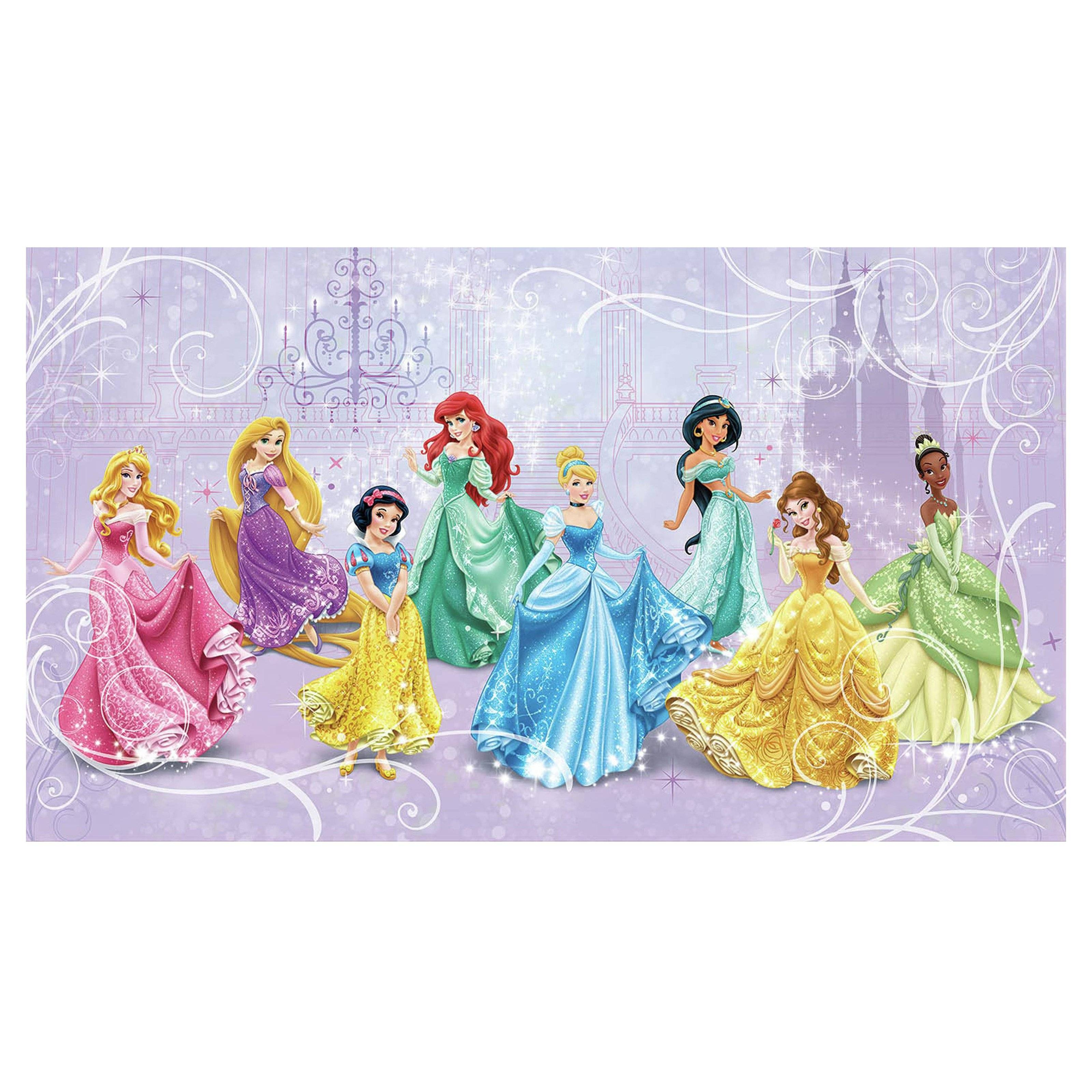 Disney Princess Royal Debut Prepasted Mural 10.5W X 6H Ft (View 9 of 20)