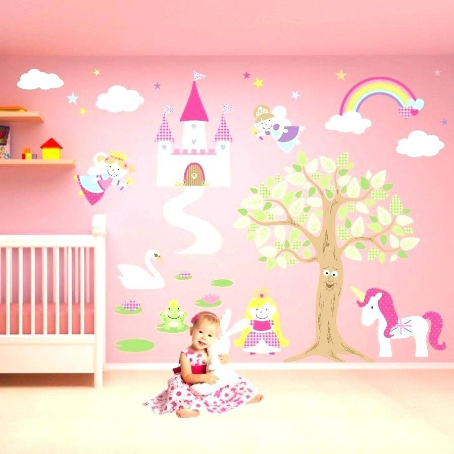 Disney Princess Wall Decals For Kids Rooms Wall Ideas Princess Intended For  Most Recently Released Princess
